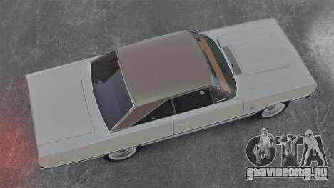 Dodge Coronet 440 1967 для GTA 4 вид справа