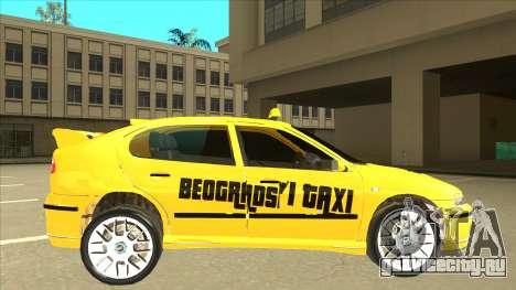 Seat Leon Belgrade Taxi для GTA San Andreas вид сзади слева