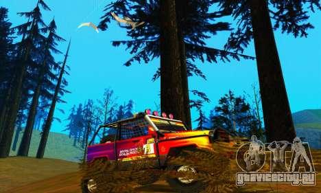 УАЗ Хантер Триал для GTA San Andreas вид сзади слева