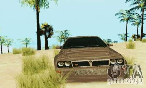 Lancia Delta HF Integrale для GTA San Andreas вид изнутри