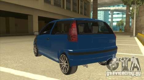 Fiat Punto MK1 Tuning для GTA San Andreas вид сзади