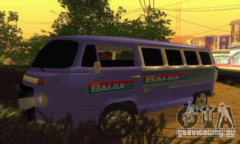 VW Kombi ESCOLAR для GTA San Andreas вид слева