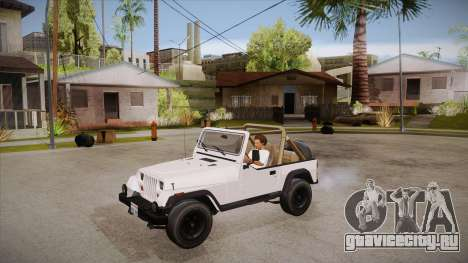 Jeep Wrangler V10 TT Black Revel для GTA San Andreas вид изнутри