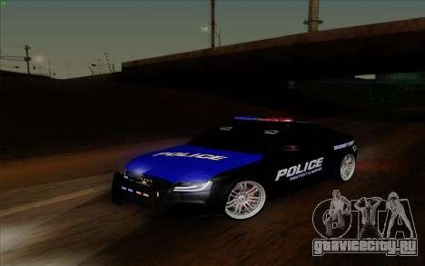 Audi RS5 2011 Police для GTA San Andreas вид сзади