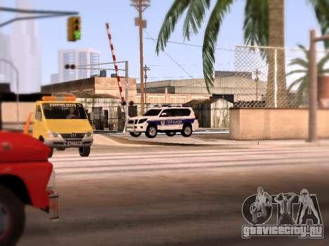 Toyota Land Cruiser POLICE для GTA San Andreas вид сбоку