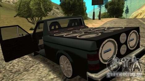 NEW Bobcat для GTA San Andreas вид сзади слева
