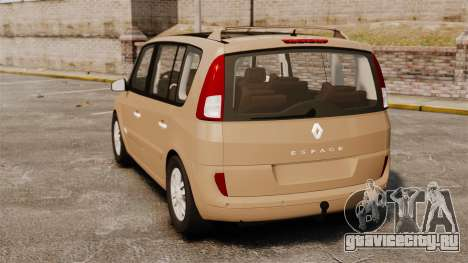 Renault Espace IV Initiale для GTA 4 вид сзади слева
