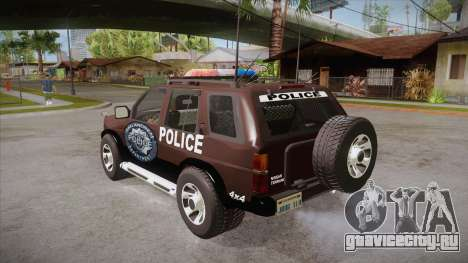Nissan Terrano RB26DETT Police для GTA San Andreas вид сзади слева