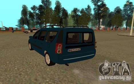 Lada Largus для GTA San Andreas вид справа