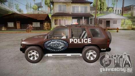 Nissan Terrano RB26DETT Police для GTA San Andreas вид слева