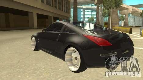 Nissan 350z SimpleDrift для GTA San Andreas вид сзади
