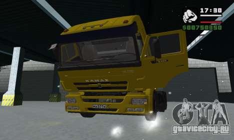 КамАЗ 65116 для GTA San Andreas салон