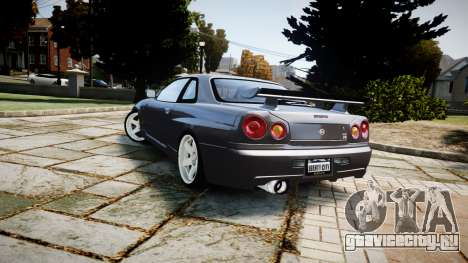Nissan Skyline GTR-34 v1.0 для GTA 4 вид сзади
