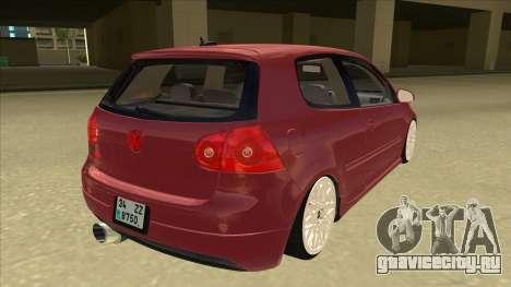 Volkswagen Golf V для GTA San Andreas вид справа