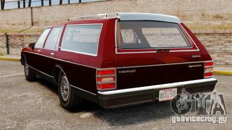 Chevrolet Caprice Wagon 1989 для GTA 4 вид сзади слева