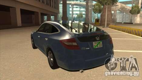 Honda Crosstour 2012 для GTA San Andreas вид сзади