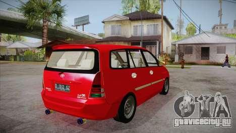 Toyota Kijang Innova 2.0 G v3.0 Steel Rims для GTA San Andreas вид справа