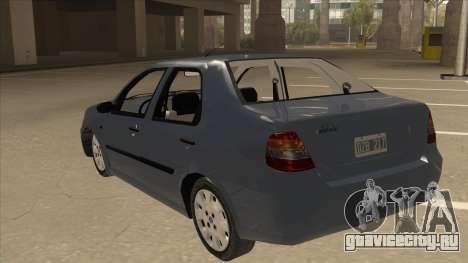 Fiat Siena Ex для GTA San Andreas вид сзади