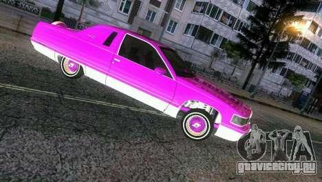 Cadillac Fleetwood Coupe для GTA Vice City вид сзади слева