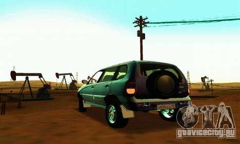 ВАЗ 21236 Шевроле Нива для GTA San Andreas вид сзади