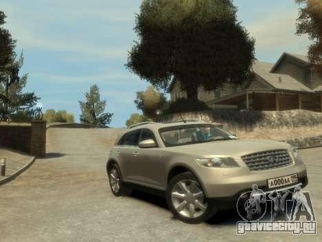 Infiniti FX45 2008 для GTA 4