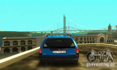 Opel Astra F Caravan для GTA San Andreas вид изнутри