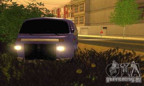 VW Kombi ESCOLAR для GTA San Andreas вид сзади