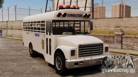 Тюремный автобус Liberty City для GTA 4