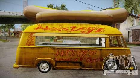 Hot Dog Van Custom для GTA San Andreas вид сзади