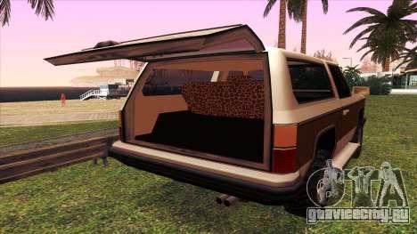 Rancher Bronco для GTA San Andreas вид сбоку