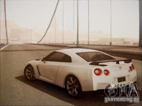 Nissan GT-R R35 Spec V 2010 для GTA San Andreas вид справа