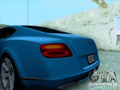 Bentley Continental GT Final 2011 для GTA San Andreas вид сбоку