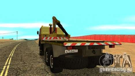 Камаз 43114 Эвакуатор для GTA San Andreas вид справа