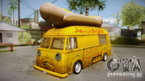 Hot Dog Van Custom для GTA San Andreas