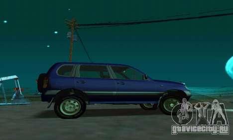 ВАЗ 21236 Шевроле Нива для GTA San Andreas вид слева