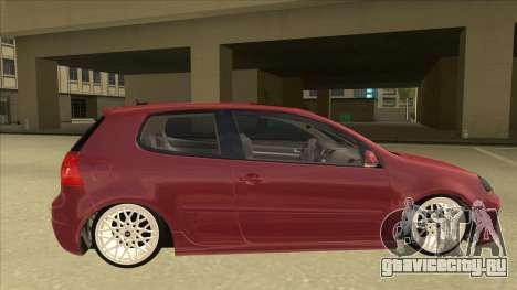 Volkswagen Golf V для GTA San Andreas вид сзади слева
