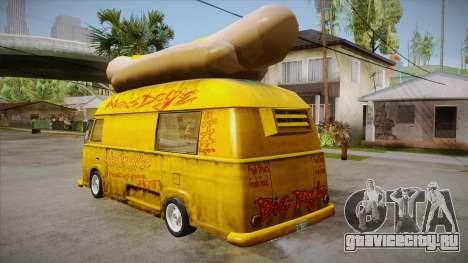 Hot Dog Van Custom для GTA San Andreas вид сзади слева
