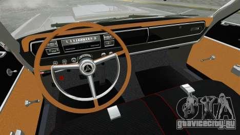 Dodge Coronet 440 1967 для GTA 4 вид сбоку