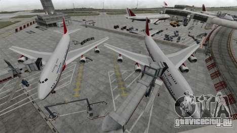 Самолёт Турецких авиалиний для GTA 4 вид слева