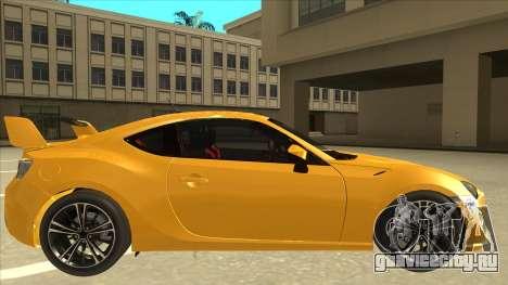 TOYOTA GT86 2JZ-GTE Black Revel для GTA San Andreas вид сзади слева