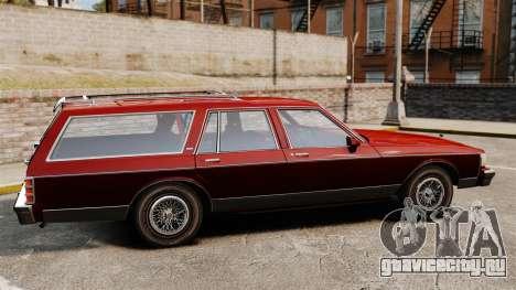 Chevrolet Caprice Wagon 1989 для GTA 4 вид слева