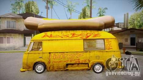 Hot Dog Van Custom для GTA San Andreas вид слева
