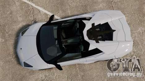 Lamborghini Reventon Roadster 2009 для GTA 4 вид справа