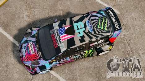 Ford Fiesta Gymkhana 6 Ken Block [Hoonigan] 2013 для GTA 4 вид справа