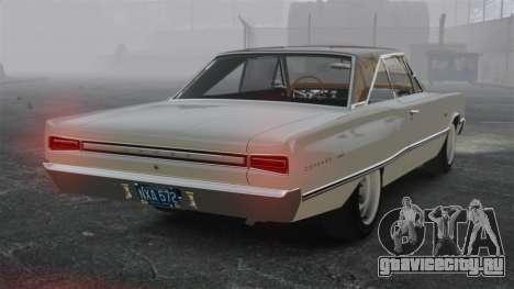 Dodge Coronet 440 1967 для GTA 4 вид сзади слева