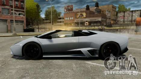Lamborghini Reventon Roadster 2009 для GTA 4 вид слева