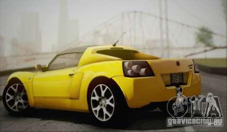 Vauxhall VX220 Turbo 2004 для GTA San Andreas вид сзади слева