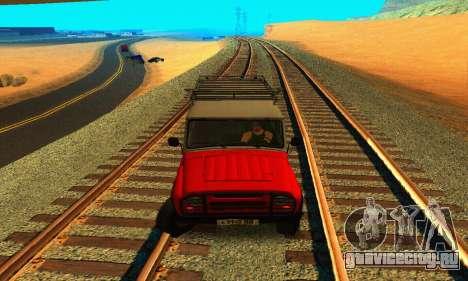 УАЗ 31514 6x6 для GTA San Andreas вид изнутри