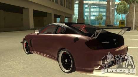 Hyundai Tiburon Coupe Tuning для GTA San Andreas вид сзади