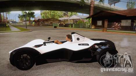 BAC Mono 2011 для GTA San Andreas вид слева